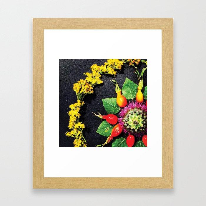 Thistle Mandala Framed Art Print