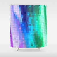 mini Shower Curtains featuring mini squares by Hannah