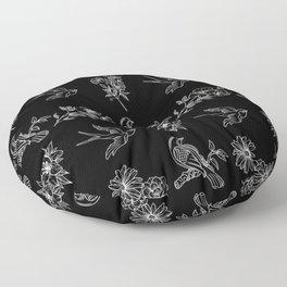 black birds Floor Pillow