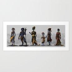 Alien Fantasy Race Art Print