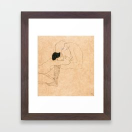 Egon Schiele Lovers Framed Art Print