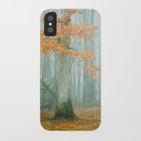 woods iPhone & iPod Cases featuring Autumn Woods by Olivia Joy StClaire