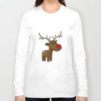 reindeer Long Sleeve T-shirts featuring Reindeer by Iotara