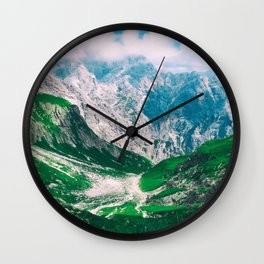MOUNTAINS - VALLEY - PHOTOGRAPHY Wall Clock