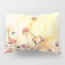 Little Gold Finch Pillow Sham