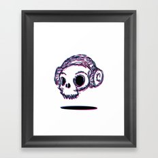 3D Skull Framed Art Print