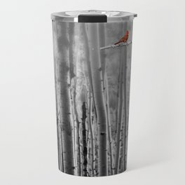 Red Cardinals in Birch Forest A128 Travel Mug