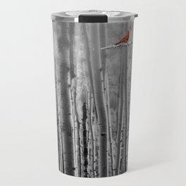 Red Cardinals in Birch Forest A128 Travel Mug
