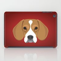 beagle iPad Cases featuring Beagle by threeblackdots