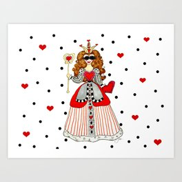 Queen of Hearts Art Print