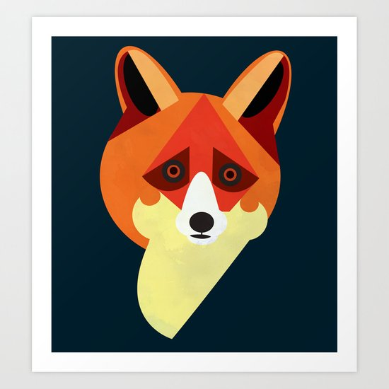 Zorro/Fox Art Print