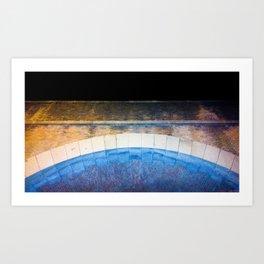 The Blue Brigde Art Print