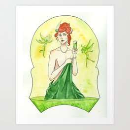 A is for Absinthe Art Print