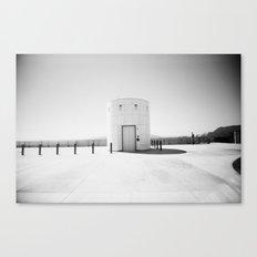 Little White Building Canvas Print