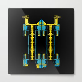 Blue Pyramid Metal Print