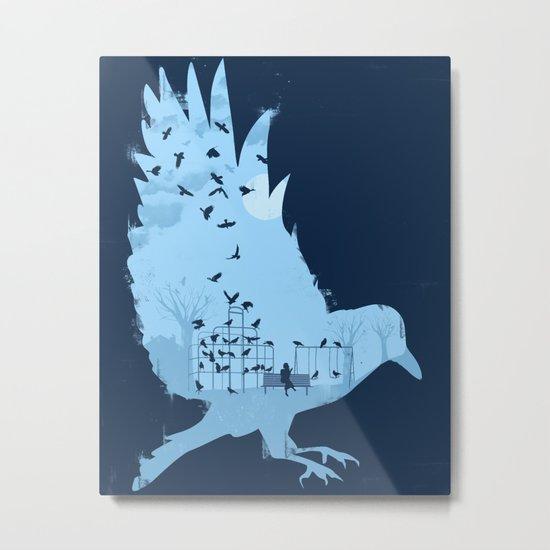 Crows on the Playground Metal Print