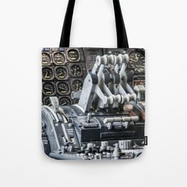 Boeing 747 cockpit Tote Bag