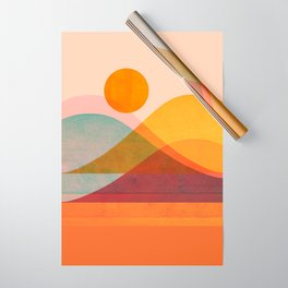 Abstraction_SUNSET_LANDSCAPE_POP_ART_Minimalism_018X Wrapping Paper