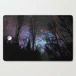 Black Trees Dark Space Cutting Board