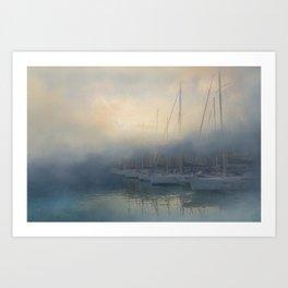 Misty Mooring Art Print