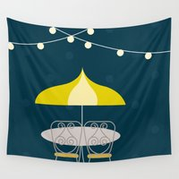 cafe Wall Tapestries featuring Jolly Cafe | Disney inspired by Jordan Blaser