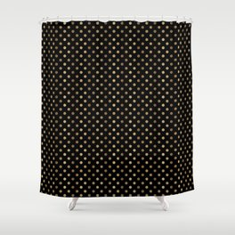 Gold & Black Polka Dots Shower Curtain