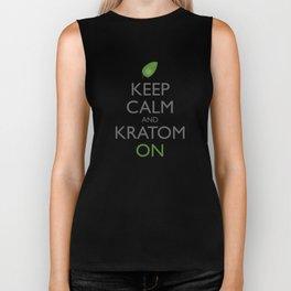 Keep Calm and Kratom On Biker Tank