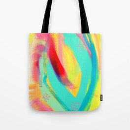 Be Proud, Be OK - tropical colorful brush summer modern abstract Tote Bag