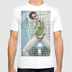Toilette White MEDIUM Mens Fitted Tee