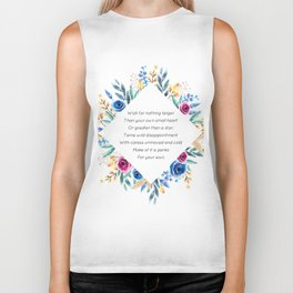 your own small heart - A. Walker Collection Biker Tank