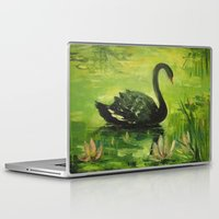 black swan Laptop & iPad Skins featuring Black Swan by OLHADARCHUK