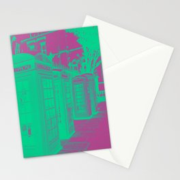 Phone Boxes twin colour Stationery Cards