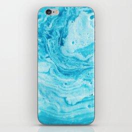 Aqua Abstract Watercolor iPhone Skin