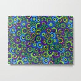 Aquamarine Pattern Metal Print