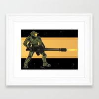 master chief Framed Art Prints featuring Master Chief by Arnix