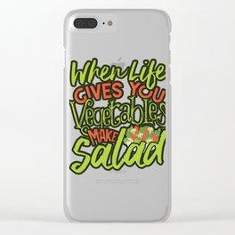 Vegan Salad Lover When Life Gives You Vegetables Make Salad Veganism Clear iPhone Case