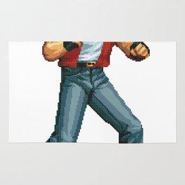 Terry Bogard pixel art Retrogaming Rug