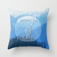woody Throw Pillows featuring WOODY by Kath Korth