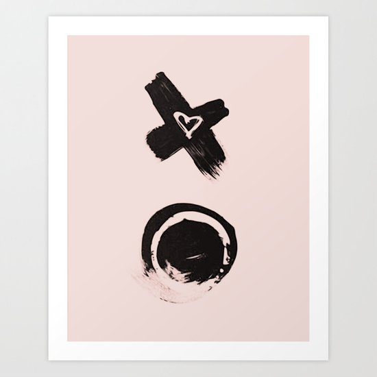 Love and kisses Art Print