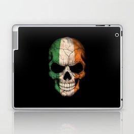 Dark Skull with Flag of Ireland Laptop & iPad Skin