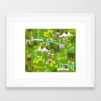 hiking Framed Art Prints featuring Hiking by misslin