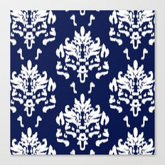 SOPHISTICATED- NAVY IKAT Canvas Print
