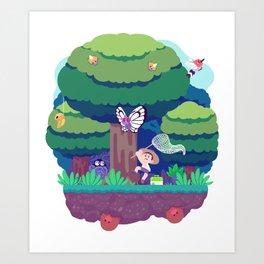 Tiny Worlds - Viridian Forest Art Print