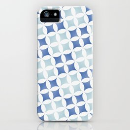 Geometric tile design inspired on traditional Portuguese tiles iPhone Case