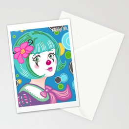 Spring Spirit Clown Stationery Cards