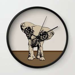 Mechanic Eyes Elephant Wall Clock