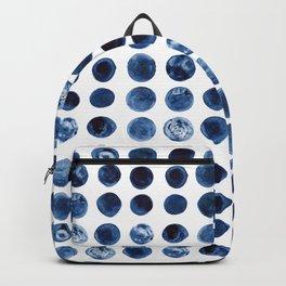 Indigo Circles Watercolor Pattern Backpack