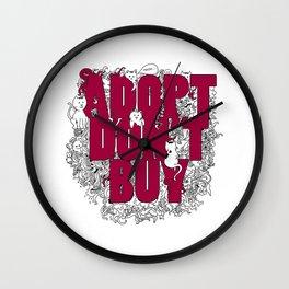 ADOPT DON'T BUY Wall Clock