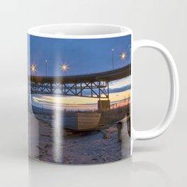 Coleman Bridge At Sunrise Coffee Mug