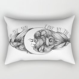 Live by the Sun, Love by the Moon Rectangular Pillow
